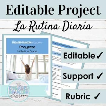 Spanish Daily Routine and Reflexive Verbs Project: La Rutina Diaria