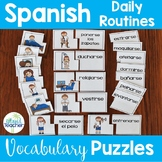 Spanish Daily Routines Reflexive Verbs Puzzles
