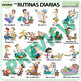 Spanish Daily Routines Wall Charts / Flash Cards