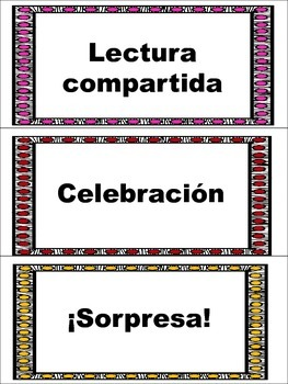 Spanish Daily Schedule Cards