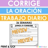 Spanish Daily Sentence Editing! Yearlong - 36 Weeks!