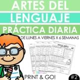 Spanish Daily Work - Grammar & Language Arts Practice #2