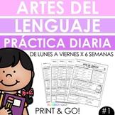 Spanish Daily Work - Grammar & Language Arts Practice #1