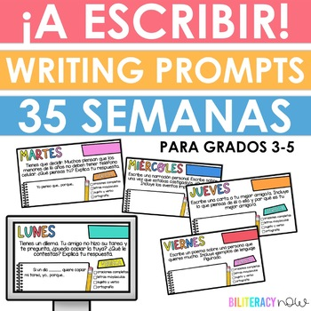 Spanish Daily Writing Prompts for Upper Grades