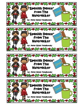 Spanish Dance (from The Nutcracker) Bookmarks