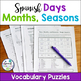 La Fecha Spanish Date Vocabulary Bundle