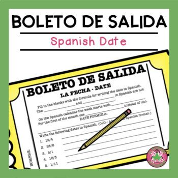 Spanish Date Exit Slip