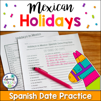 Spanish Date Practice and Holidays in Mexico Reference Sheet