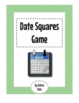 Spanish Date Squares Game: a race to tell the date