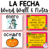 Spanish Date: Word Wall and Notes / La Fecha