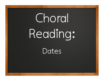Spanish Dates Choral Reading
