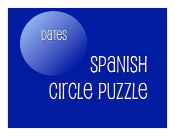 Spanish Dates Circle Puzzle