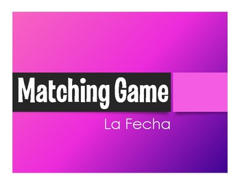 Spanish Dates Matching Game