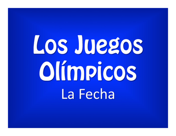 Spanish Dates Olympics