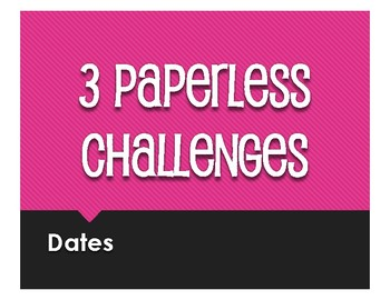 Spanish Dates Paperless Challenges