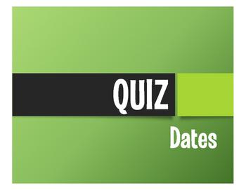 Spanish Dates Quiz