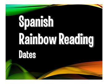 Spanish Dates Rainbow Reading