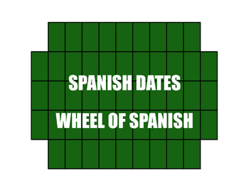 Spanish Dates Wheel of Spanish