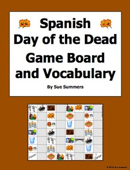 Spanish Day of the Dead Board Game and Vocabulary