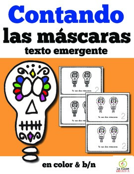 Spanish Day of the Dead Counting Masks Emergent Reader