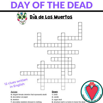 Spanish Day of the Dead Crossword Puzzle