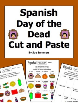 Spanish Day of the Dead Cut and Paste / Game Cards - Día d