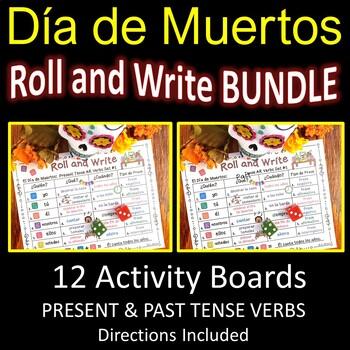 Spanish Day of the Dead (Dia de Muertos) Verb Activities BUNDLE
