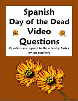 Spanish Day of the Dead / Dia de los Muertos Video Questions (Carlex)
