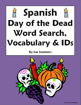 day of the dead vocabulary pdf