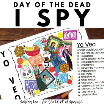 Spanish Day of the Dead I Spy Game