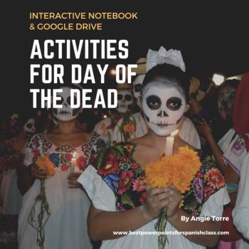 Día de los Muertos Day of the Dead Interactive and Google Drive Activities