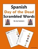 Spanish Day of the Dead Scrambled Words and Image IDs