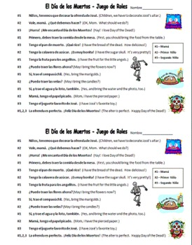 spanish day of the dead skit worksheet cultural speaking activity. Black Bedroom Furniture Sets. Home Design Ideas