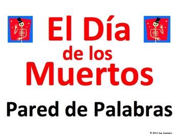 Spanish Day of the Dead Word Wall - El Dia de los Muertos