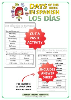 Spanish Days - Cut and Paste Activity