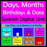 Spanish Days, Months & Date Unit - Remote Learning - Días, meses, fecha