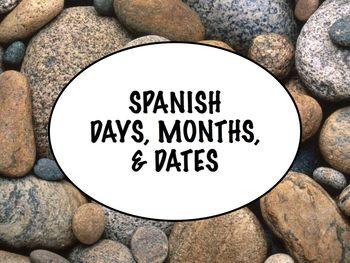 Spanish Days, Months, Dates Keynote Slideshow Presentation for Mac