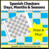 Spanish Days, Months & Seasons Checkers Game