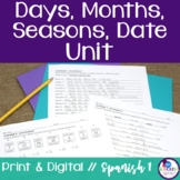 Spanish Days, Months, Seasons, Date Unit