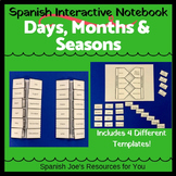 Spanish Days, Months & Seasons Interactive Notebook Bundle