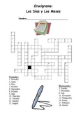 Spanish Days and Months Crossword (with Answers)