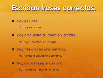 Spanish Days and Months PowerPoint and Activities