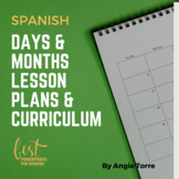Spanish Days and Months PowerPoint and Activities Distance