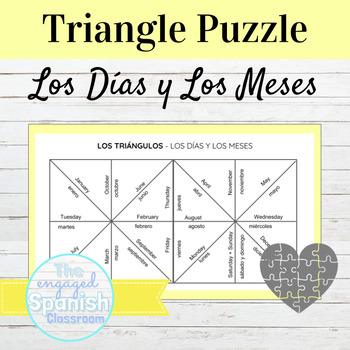 Spanish Days and Months Puzzle Los Días y Los Meses