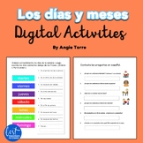 Spanish Days and Months los días y meses Digital Activities Distance Learning