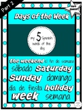 Spanish Days of the Week | My 5 Spanish Words of the Day