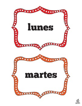 Spanish Days of the Week