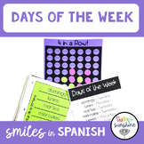 Spanish Days of the Week: 4 in a Row Game and Interactive