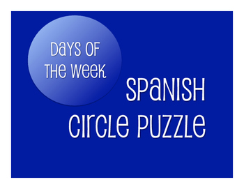 Spanish Days of the Week Circle Puzzle