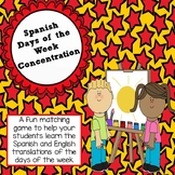 Spanish Days of the Week Concentration